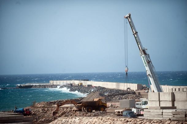 Granadilla. 07.08.13.- Estado de las obras del puerto de Granadilla.